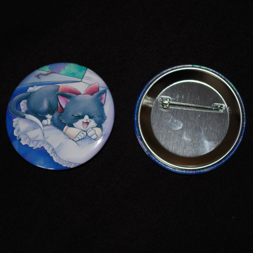 "Button ""Relaxing Kitty"" 56mm"