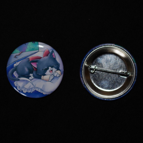 "Button ""Relaxing Kitty"" 37mm"